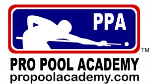 PRO POOL ACADEMY LOGO WITH WEB ADDRESS