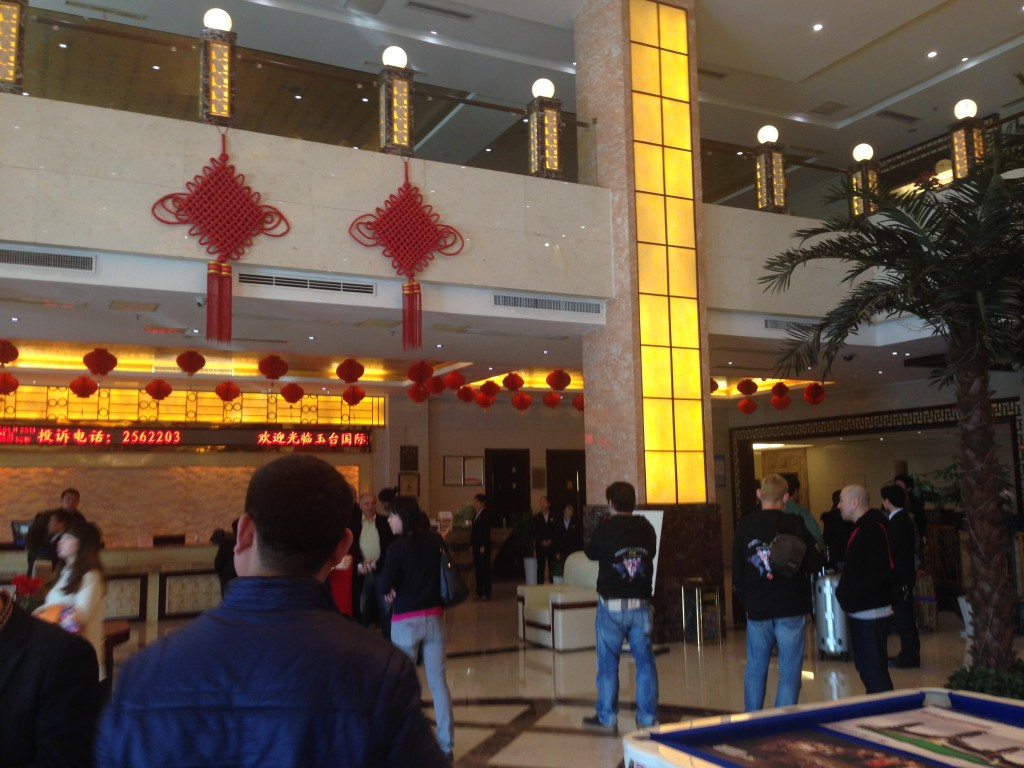 china billiard world championship 2015 hotel lobby