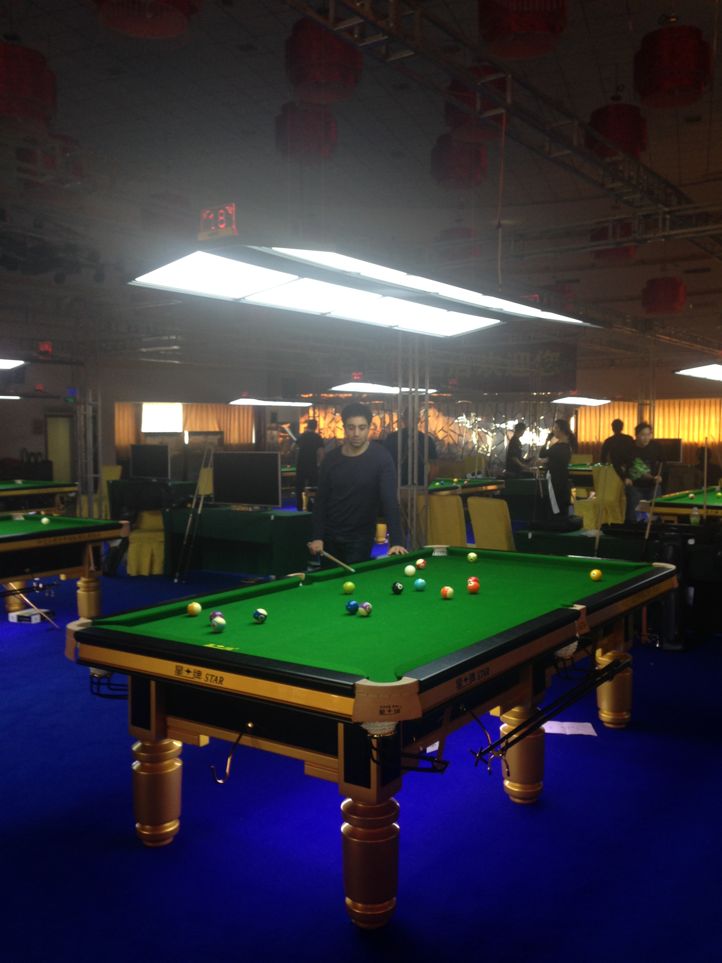 china billiard world championship 2015 star table practice session so shaw