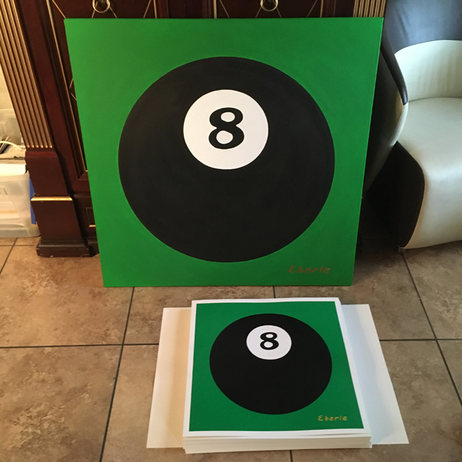 8 ball original and prints max eberle art
