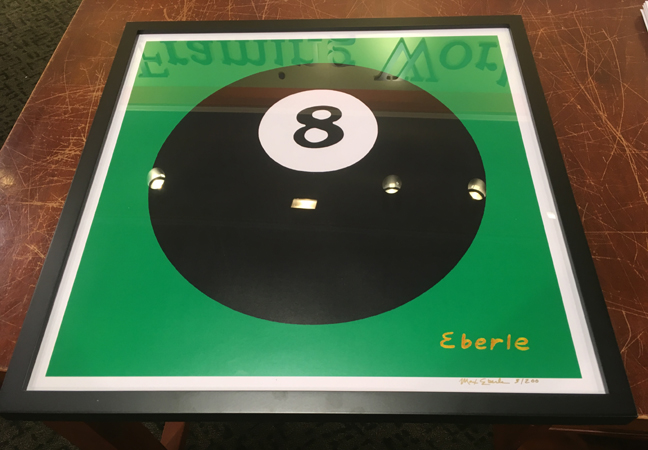 8 ball print framed max eberle art